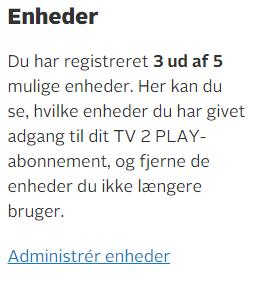 Tv2login/konto/play/enheder
